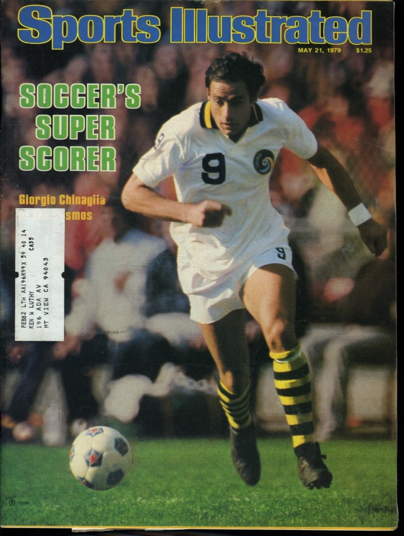 Giorgio Chinaglia on the cover of Sports Illustrated, circa May 21, 1979.