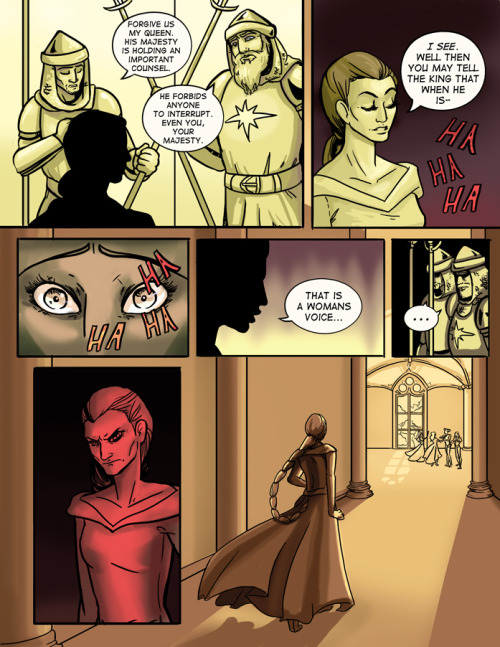 Page 16 of the Evil Queen! Sad page… Can be read here (my tumblr with just Evil Queen pages) http://queenlaviana.tumblr.com/ or here http://theevilqueen.smackjeeves.com/ Newest page of The Evil Queen!  Quick synopsis: All evil queens were princesses once. A fading queen seeks to attain eternal beauty, no matter what it may cost her.