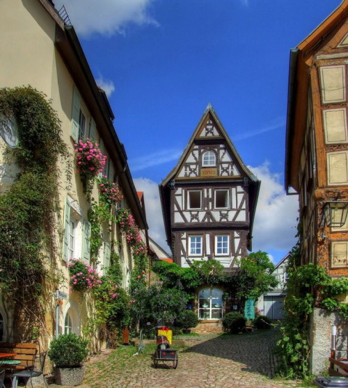 hynora:  visitheworld:  Picturesque street scene in the historic spa town of Bad Wimpfen, Germany (by jurek1951).  góc phố đẹp quá