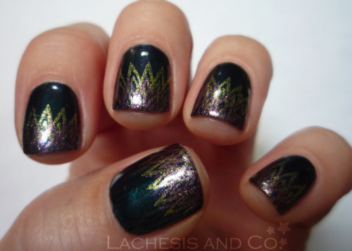 Peacock-esque Essie Dive Bar Wet n' Wild Chrome I Got a New Com-Pewter KleanColor Metallic Purple Bundle Monster plate BM-212