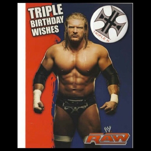 @sapere_aude sent me this awesome bday message! Thanks to you & Triple H!! #tripleH #wwe #raw