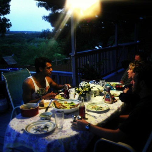 @abtaliaferro's birthday dinner:) #summer #ontheporch #backyard #summernights #tellmemoretellmemore …#greaseanybody? #yeahno