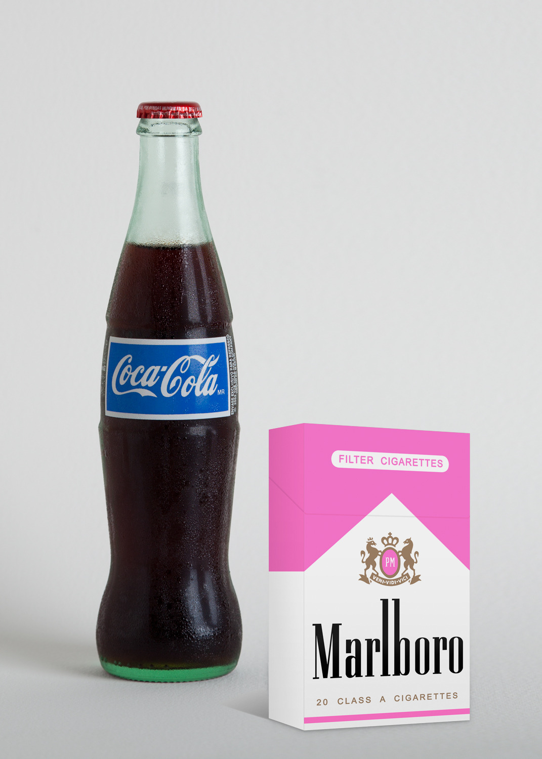 "thejogging:  Blue Coke and Pink Smoke, 2012 Sculpture, 4 x 6 x 9"" ⧗"