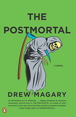 "THE POSTMORTAL  A novel  Amazon  Barnes & Noble  The iBookstore  Indiebound  Powells  UK Edition (sold as ""The End Specialist"")  Goodreads"