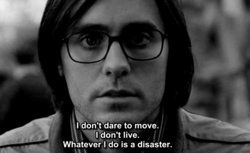 darknessalwayscome:  Whatever I do is a disaster…