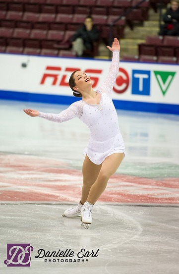 Shelby Hall's free program costume at the 2013 Junior Canadian National Championships.