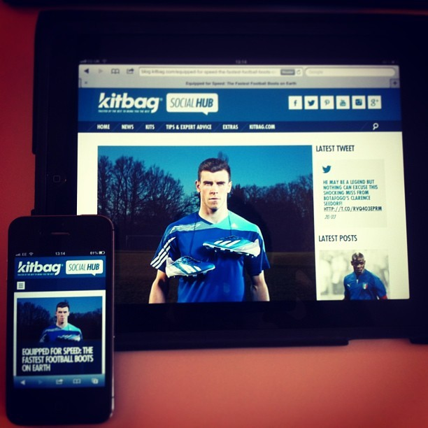 Here is a recent responsive design site we put live - blog.kitbag.com #webdev