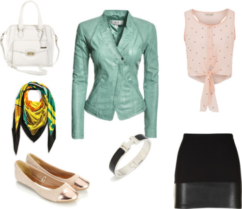Untitled #53 by kasandrastill featuring pink shirtsPink shirt, $26 / Blazer / Bailey 44 , $150 / Accessorize ballet flat / Cole Haan structured bag / Hermès triangle shawl
