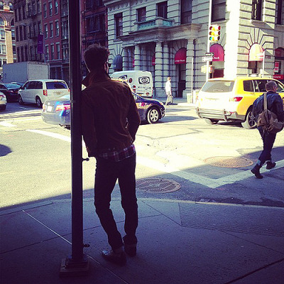 andrwgarfield:  Andrew Garfield in NYC today