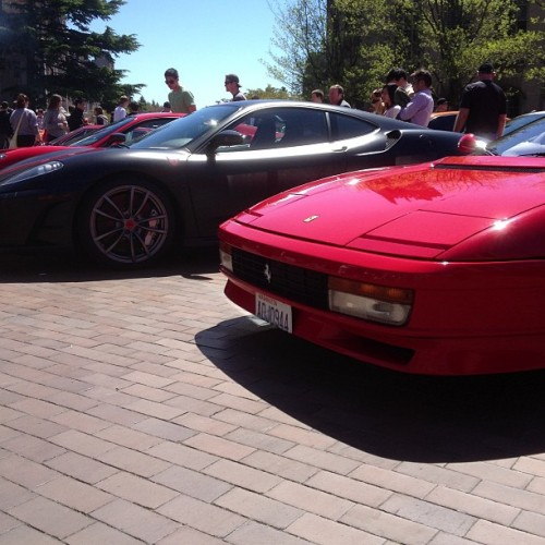 Loving the #F430 #Scuderia's, and the #Testarossa…… 😌 #Ferrari #redsquarecarshow  (at UW: Red Square)