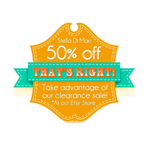 50% off at our Etsy Store! Take Advantage NOW!!!