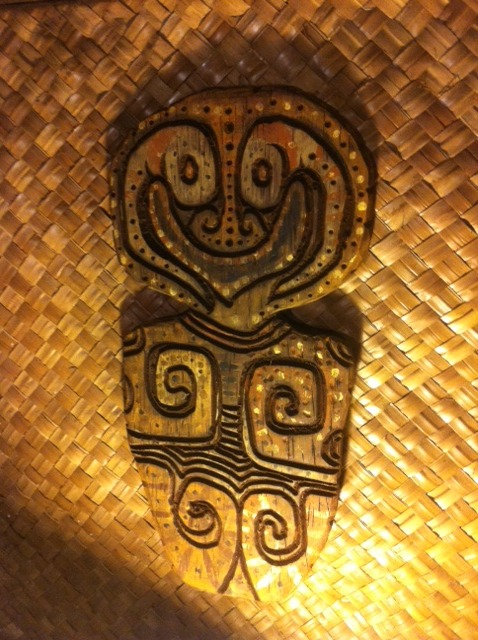 Tiki shield carving Tiki tOny