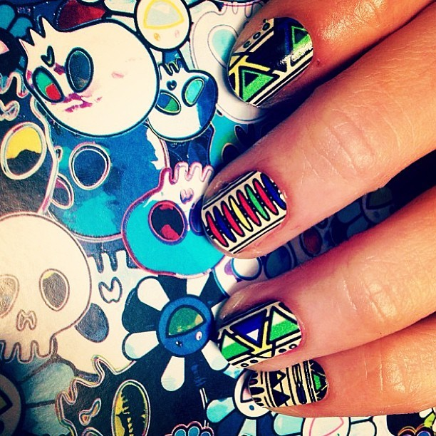 New #melodyehsani designed nail wraps on www.melodyehsani.com or come get them done @candypaintLA cc: @shopncla (at Candy Paint Nail Studio)