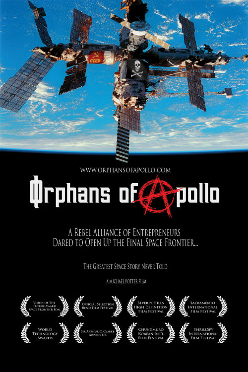 "In honor of Skylab's anniversary, here is a documentary worth every second of your time. Educate yourself on the space race and private industry as it concerns us today.  Orphans of Apollo is (description provided by mirforpeace) …the extraordinary true story of a rebel group of entrepreneurs who seized command of the Russian Mir Space Station. It was the pioneering efforts of these brave, free marketeer buinessmen who launched the New Space Revolution, and kick-started the privatization of outer space as we know it today. This is the greatest story never told, and one film you are not supposed to see…  ""Orphans of Apollo"" is the award winning documentary that has been called the ""greatest space story never told."" The film  tells the extraordinary true story of a small group of entrepreneurs who felt, 'orphaned' by President Nixon's decision to end the NASA Apollo Moon program and the subsequent years of nominal space activity. This band of brothers took matters into their own hands, and commandeered the Russian Mir Space Station, behind the backs of NASA and the US government. The rebellious, yet pioneering efforts has been credited with launching the new commercial Space Revolution. This is the remarkable untold story of the greatest secret in the new space race.  This dramatic tale chronicles the adventure of the boldest business plan the Earth has ever seen. 'MirCorp', the entrepreneurial company 's vision to transform the Russian space station into an outpost for what was intended to be the first phase of a trillion dollar business. The project was to include mining of asteroids, gravity free laboratories, a space 'hotel', and a research facility. MirCorp was the ultimate start-up company, and unlike anything the universe had ever seen.  Join this band of rebels out to change the course of history in space, as they board a private jet, fly to Russia, negotiate one of the most remarkable business deals of the final frontier. Follow this diverse group as they pioneer their way through this new business of space. Listen to the management team as they struggle with issues of branding, finance, technology, and engage in the ultimate slugfest with the most powerful governments and bureaucrats.  Orphans of Apollo is an intimate and compelling epic which eloquently communicates the real origins of the private commercial new space revolution. Now for the first, and possibly the last, time, ""Orphans of Apollo"" combines archival material from original NASA film footage, Russian archival footage, personal footage, IMAX footage, with interviews and or footage with key players including Tom Clancy, Elon Musk, Richard Branson, Rick Tumlinson, Walt Anderson, Gus Gardellini, Jeff Manber, and others. Available via Google, Amazon, Amazon Instant Video  website 