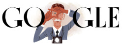 Sir Norman Parkinson, British fashion photographer, is celebrated in Google doodle on what would have been his 100th birthday. His timeless innovative style is responsible for the look of Vogue in the mid 20th century and meant he was able to create icons all the up into his 60s.