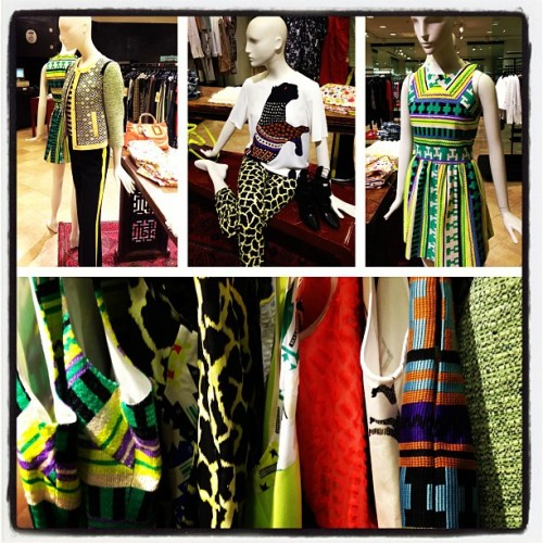 #Obsessed with the vibrant colors & ikat print of #ss13 #MSGM. Bravo @mrmsgm ! @nordstrom #nordstrom #msgmcrew #msgmdetails #fashion #spring13 #newarrivals #viac #designer #nordstromsea  (at @NordstromSea Via C)