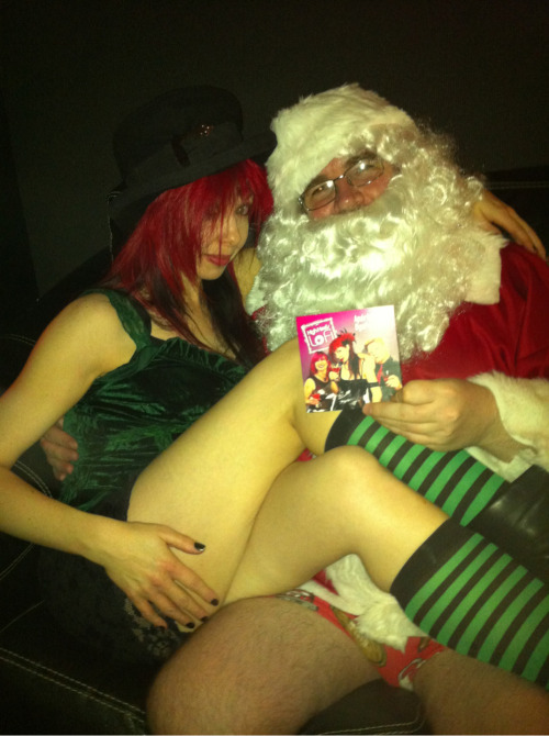Pantsless Santa & the naughty elf love the new High Heels Lo Fi album!