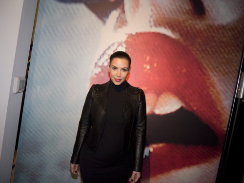 I took a photo of Kim Kardashian at the Mario Testino opening last night! That was a first! Photo by Brad Elterman