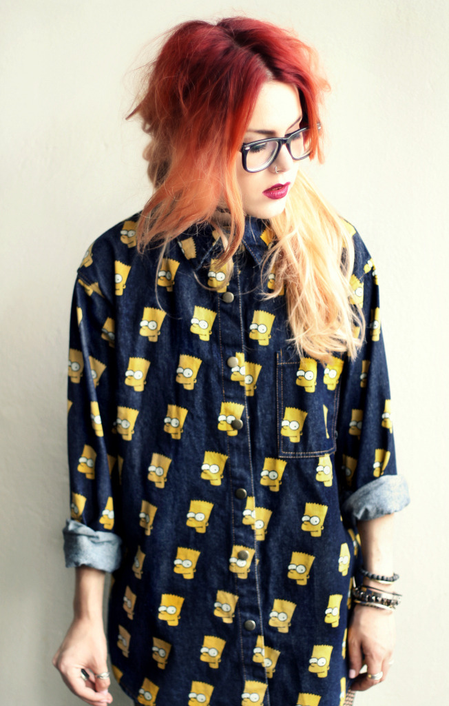 fashionpassionates:  GET THE LOOK! *NEW Get the shirt: BART SIMPSON SHIRT Get the glasses: CLASSIC GEEK SPECS