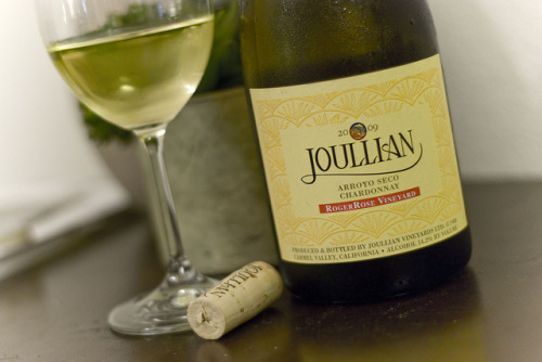 Joullian |  2009 RogerRose Chardonnay We fell in love with Joullian's big luscious reds early on, but for some reason never partook in their whites. During one random visit and unplanned tasting I had a chardonnay that stopped the the multi-task nature of my mind. This is tasty I thought, no…this is just delicious, incredible even. Although tasty, did it have the legs to age? This bottle has sat in our cellar for a few years, and we decided to open it as the recent weather was balmy enough for us to want a white wine. Still fantastic and an abundance of life. Wish we had more.