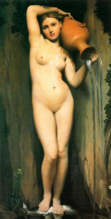 """La Source"" (1856), Jean-Auguste-Dominique Ingres"