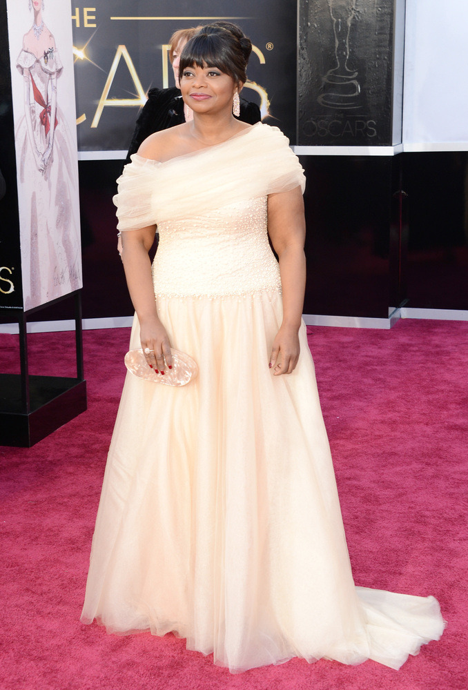 Octavia Spencer in Tadashi Shoji at the 85th annual Oscars.