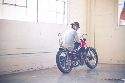 My favorite photo from the entire weekend- Todd Blubaugh and his chopper. Photograph by yours truly.  The One Motorcycle Show 2013.