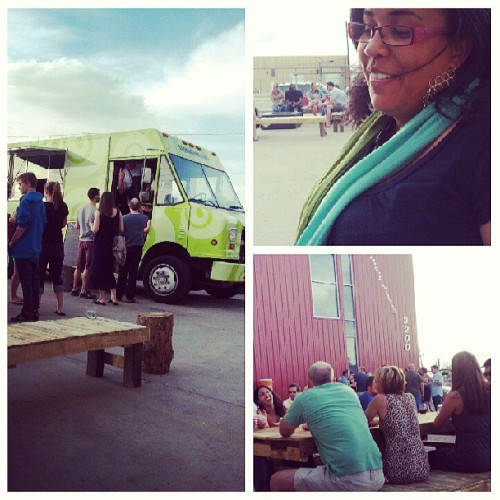 #foodtruck opening #downtowndenver me and the clear people that I'll miss when I'm gone. Me and the big homie (at Infinite Monkey Theorem)