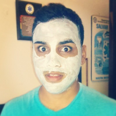 #me #face #frankenstein #mascarilla #birthday #today #beautiful #white #blue #eyes #adventure #happy #instarican #loco  (at Pueblo Nuevo)