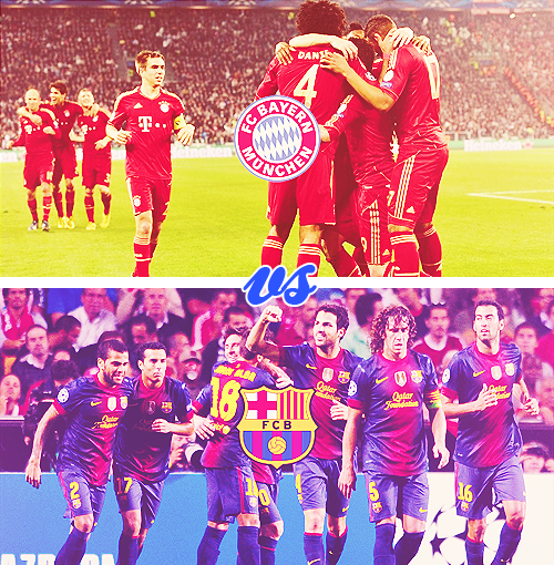 UEFA CHAMPIONS LEAGUE SEMI-FINALS DRAW Bayern Munich vs Barcelona Borussia Dortmund vs Real Madrid