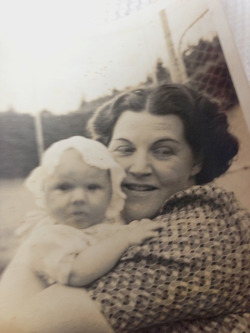HAPPY MOTHER'S DAY! whatmymothergaveme:  Sheila Kohler with her mother, by the water in the garden, Johannesburg, 1942.