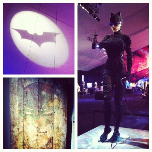A few more images from the #darkknightrises exhibit @lalive including #lego #catwoman