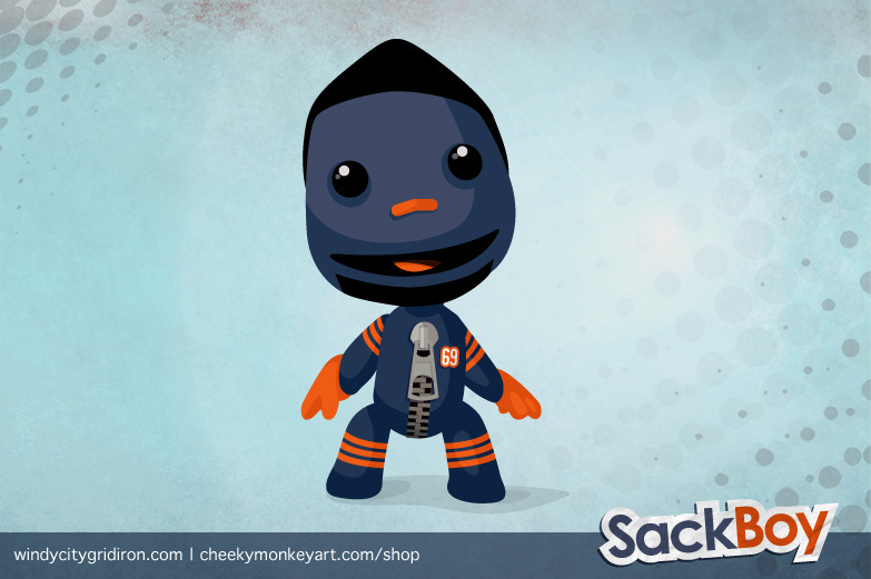 One Stop 'Shop: Sackboy - Henry Melton (featured on Windy City Gridiron) | Purchase 'Sackboy' as a T-Shirt or Wall Art / iPhone Case