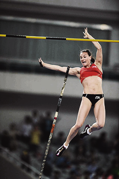 christopheestlemaitre:  Yelena Isinbayeva competing in the women's pole vault during the Shangai Diamond League 2013 on May 18th.