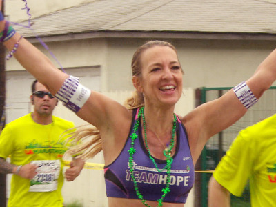 today:   Woman runs 52 marathons in 52 weeks to end cancer  I almost expected this to be from The Onion followed by a quote on how cancer has been found to not be cured by running. That being said, it's great that this woman has taken the time to spread awareness in a unique way. If only we took half the funds from our wars and put it into cancer/HIV/autism research we might have been able to cure one of these terrible afflictions by now.