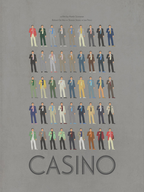 Every suit worn by Robert De Niro in Casino, 1995