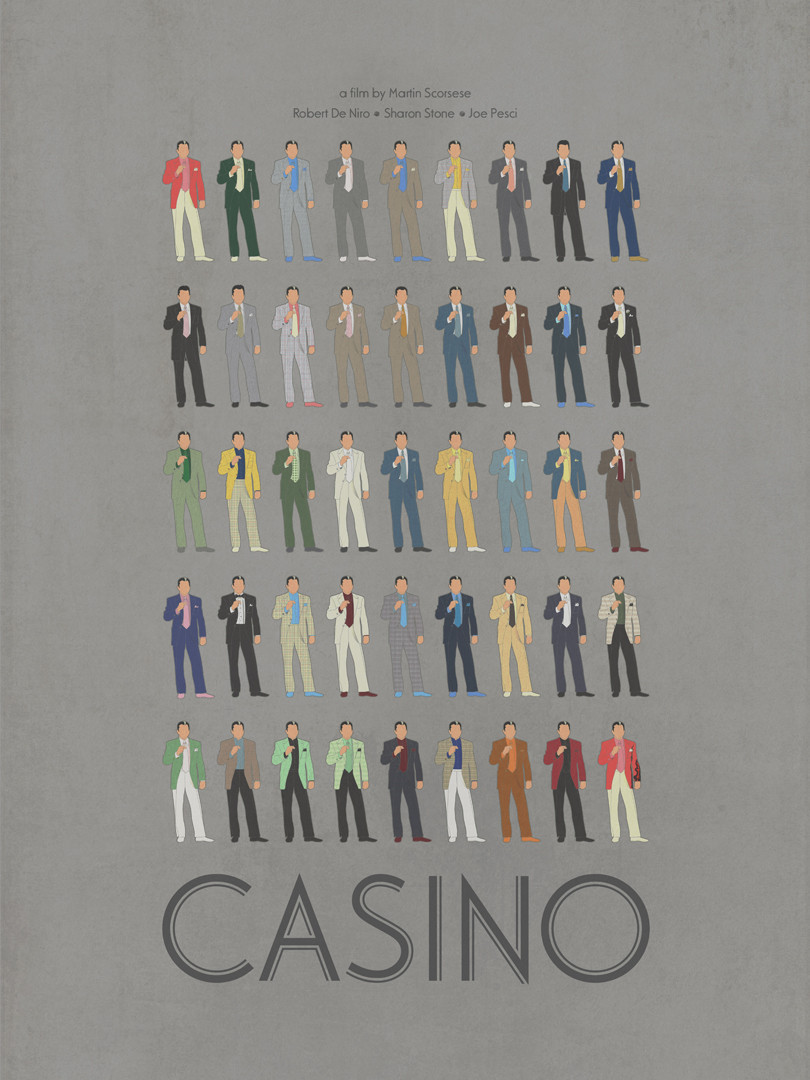 All the suits worn by Robert De Niro in Scorsese's CASINO (1995).