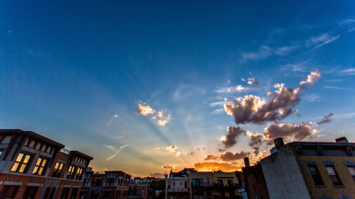 johndryzgaphoto:  Sunset over 7th and Grand in Hoboken, NJ