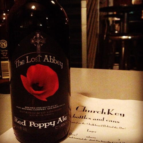Great find tonight at #ChurchKey #SanFrancisco #Beer #Sour #LostAbbey