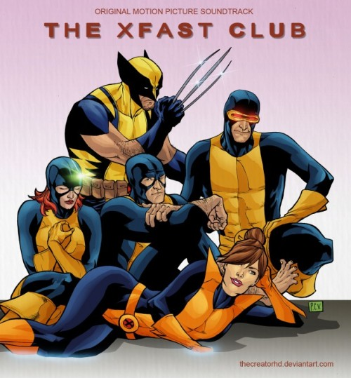 Judd Nelson is Wolverine! joebagofdoughnuts:  The XFast Club by Phillip Sevy