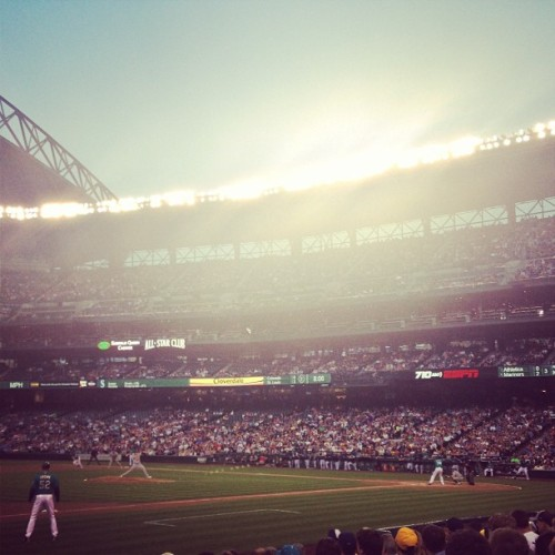keepinitriel:  We out cheaaa! ⚾ #mariners #A's #seattle #oakland (at Safeco Field)