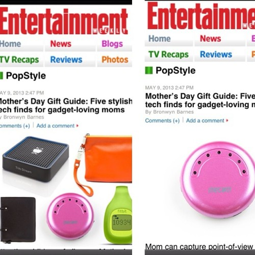 MeCam + @EntertainmentWeekly 's Mother's Day Gift Guide