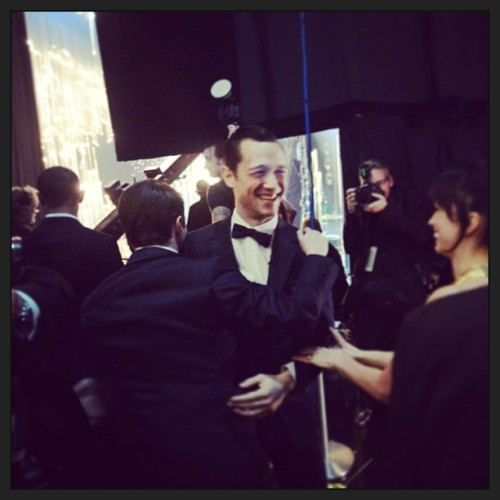 theacademy @hitrecordjoe had some fun out there! #oscars  Are that Dan and Joe hugging after their dance number?