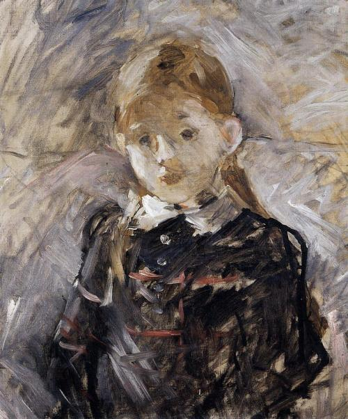 Little Girl with Blond Hair by Berthe Morisot