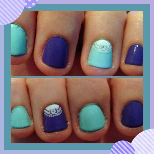 Cute nail stickers :3 #nailpolish #nails