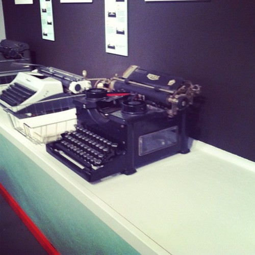 Displayed in all of their glory!! #bfa #typewriters