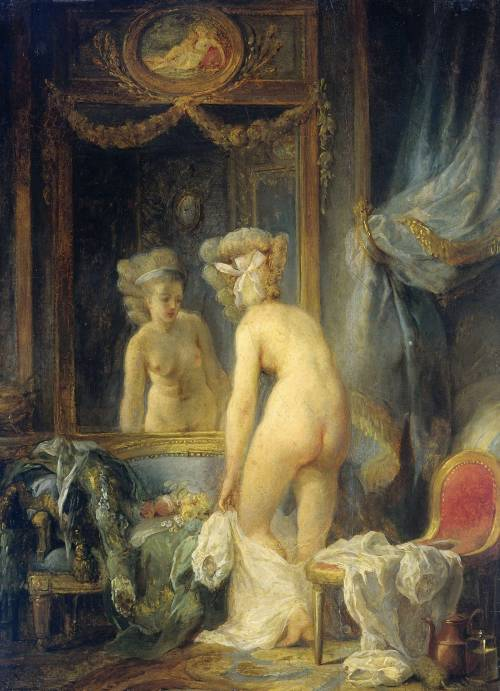 "arsvitaest:  ""Morgentoilet"" Author: Jean-Frédéric Schall (French, 1752-1825)Date: ca. 1780-1820Medium: Oil on panelLocation: Rijksmuseum, Amsterdam"
