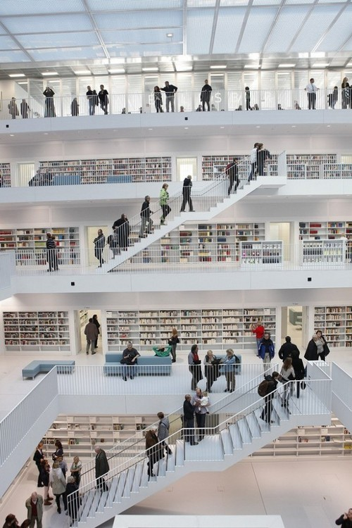 designed-for-life:  Stuttgart Library, Germany