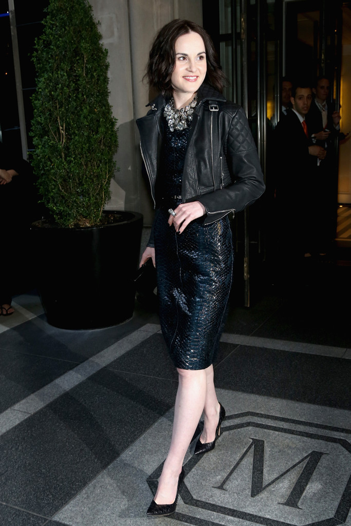 Michelle Dockery on her way to the Costume Institute Gala in NYC, May 6th