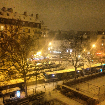 #snow #paris